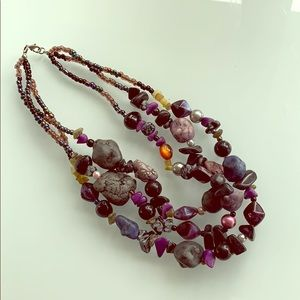 Jewelry - Bead and stone necklace